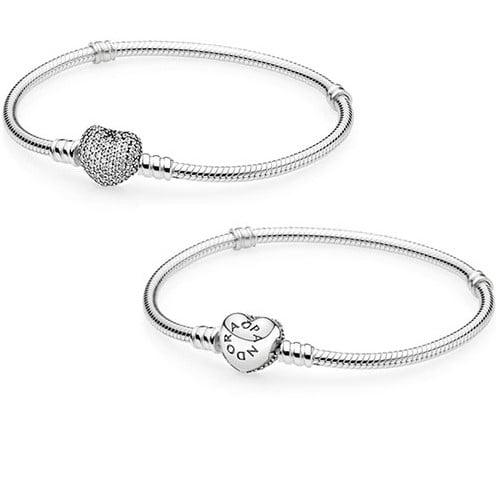 Moments Silver Bracelet Pave Heart