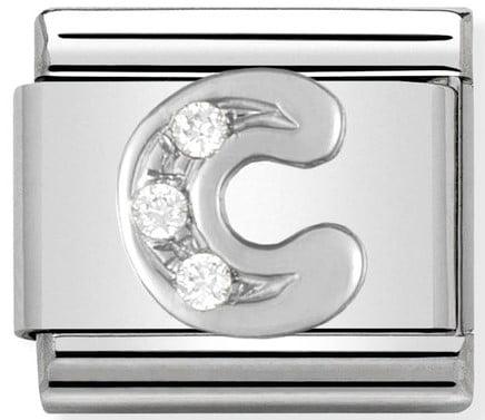 Letter C Silver Shine