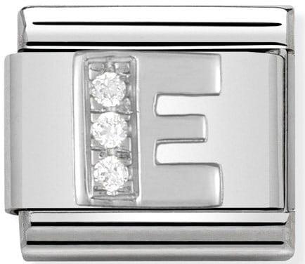 Letter E Silver Shine