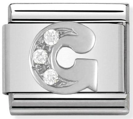 Letter G Silver Shine