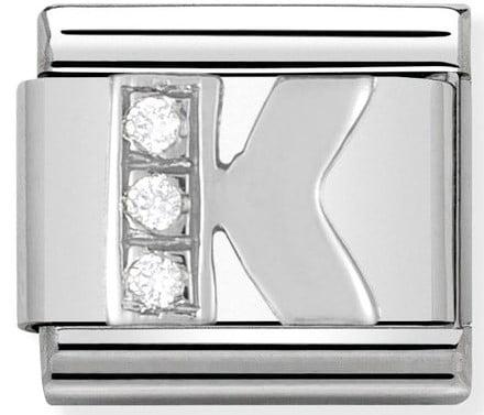 Letter K Silver Shine