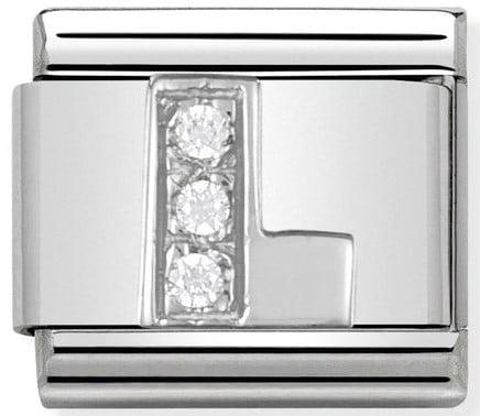 Letter L Silver Shine