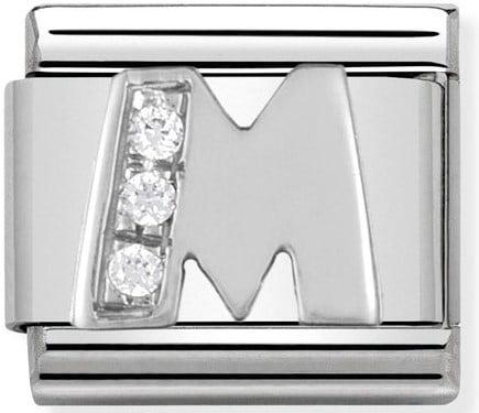 Letter M Silver Shine