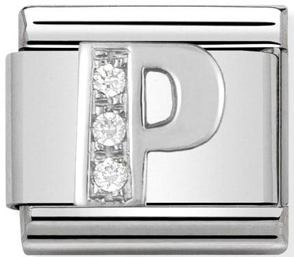 Letter P Silver Shine