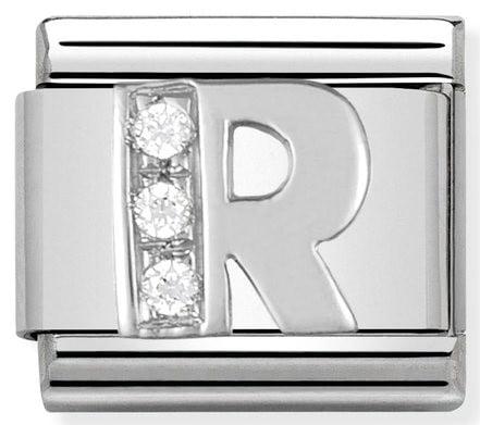 Letter R Silver Shine