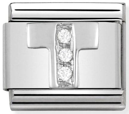 Letter T Silver Shine