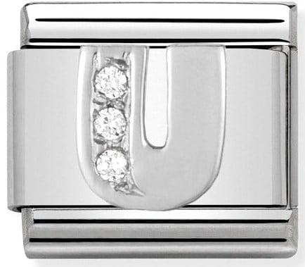 Letter U Silver Shine