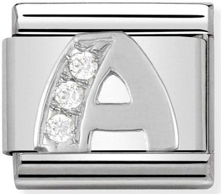 Letter A - Silver Shine