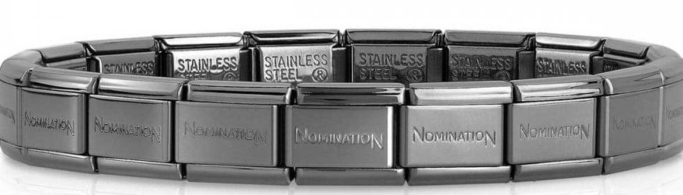 Stainless Steel Gunmetal Black Starter Bracelet 20 links