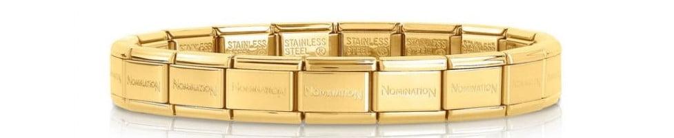 Stainless Steel Gold Plated Starter Bracelet 18 Links