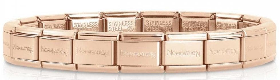 Stainless Steel Rose Gold Plated Starter Bracelet 18 Links
