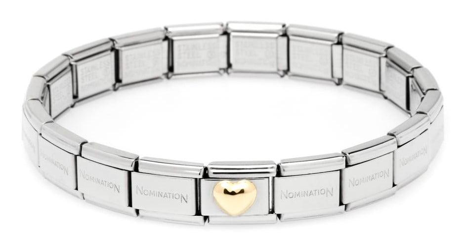 Nomination Bracelet with Heart (19 links)