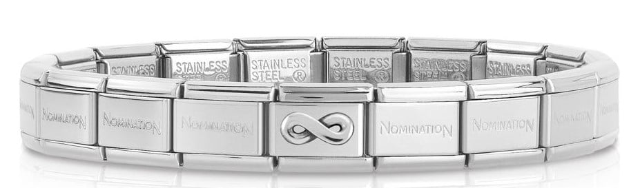 Nomination Bracelet with Sterling Silver Infinity(19 links)