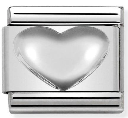 Raised Heart Silvershine
