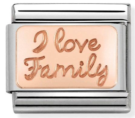 Rose Gold I Love Family