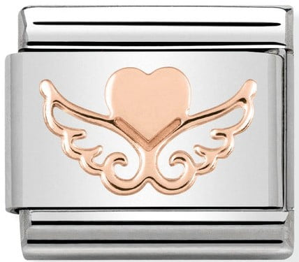 Rose Gold Heart with wings