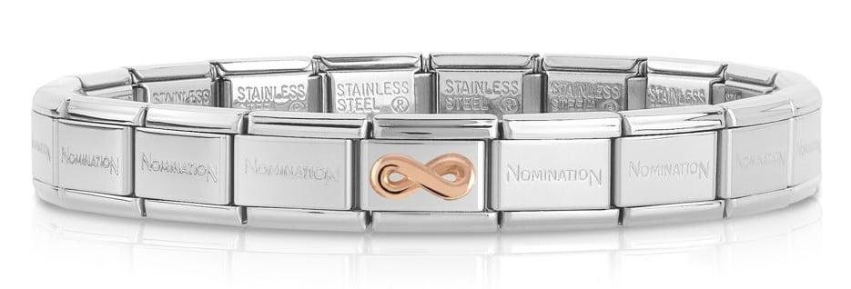Nomination Bracelet with Rose God Infinity (19 links)