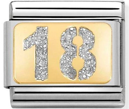 18 with glitter