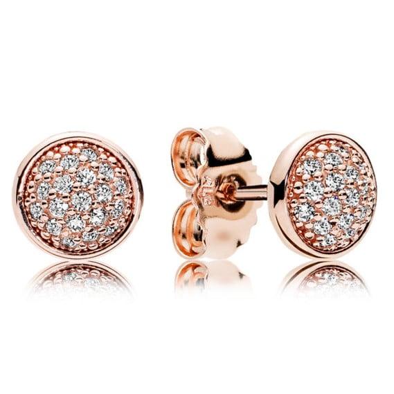 Dazzling Droplets Rose earrings