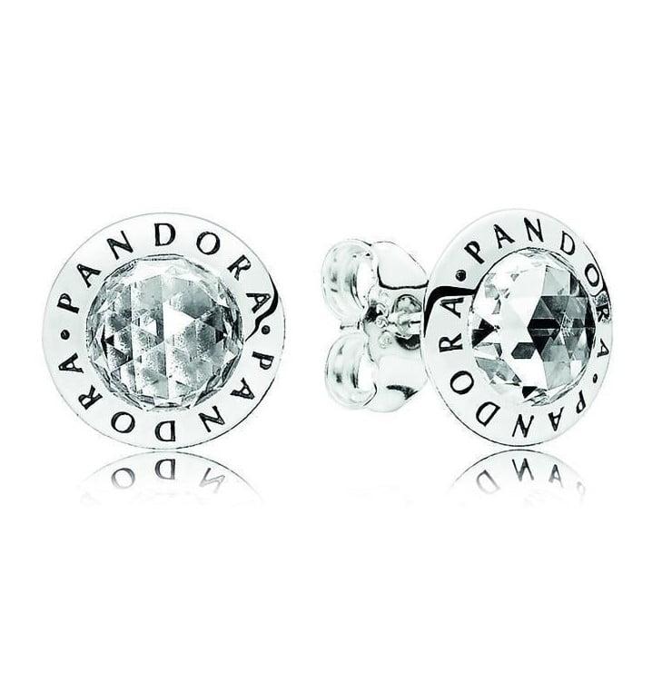 Radiant Pandora Logo earrings