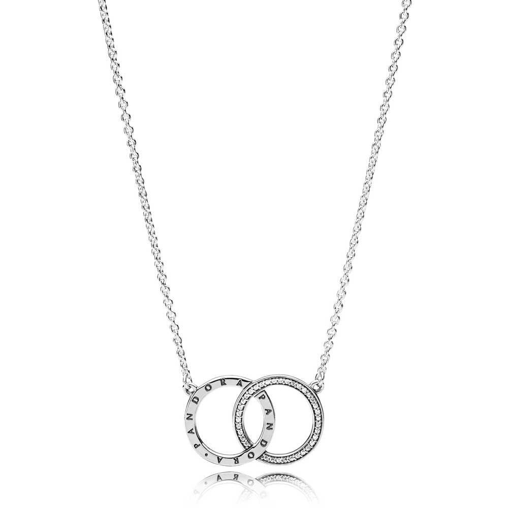 Pandora intertwined Circle necklace