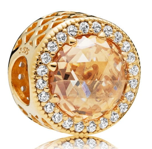 Pandora Shine Radiant Hearts sparkling light golden charm