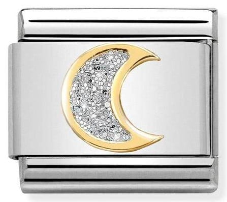 Moon with Glitter