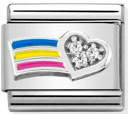 Rainbow with CZ heart