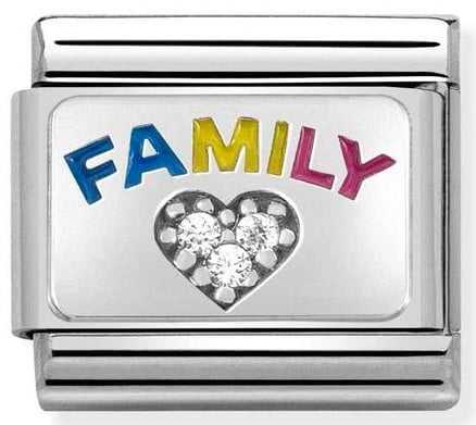 Family with CZ Heart