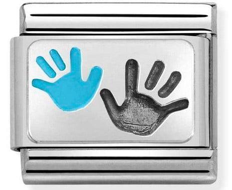 Hands Parent-Child Blue